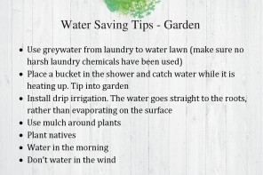 Fact Sheet – Water Saving Tips in the Garden